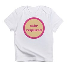 Sabr Required Infant T-Shirt (yellow + pink)