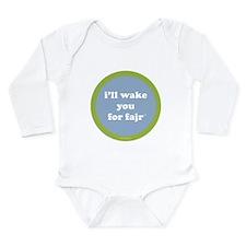Fajr LongSleeve Infant Bodysuit (light blue+green)