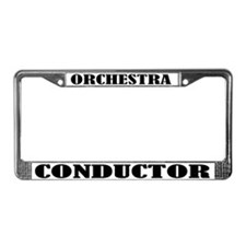 Orchestra Conductor License Plate Frame