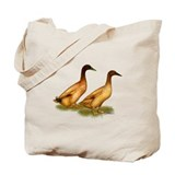 Khaki Campbell Duck Pair Tote Bag