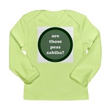 Zabiha Long Sleeve Infant T-Shirt (dark green)