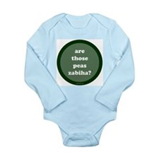 Zabiha Long Sleeve Infant Bodysuit (dark green)