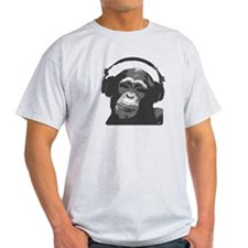DJ MONKEY grey T-Shirt