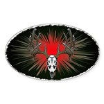 Whitetail buck Sticker (Oval)
