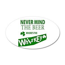 St Patricks Wheres the Whisky 22x14 Oval Wall Peel