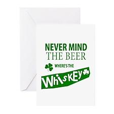 St Patricks Wheres the Whisky Greeting Cards (Pk o