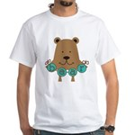 Cartoon Bear White T-Shirt