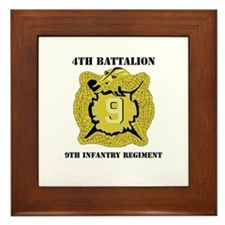DUI - 4th Bn - 9th Infantry Regt with Text Framed