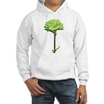 Green Carnation Hooded Sweatshirt