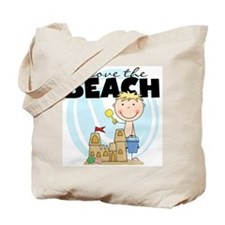 Blond Boy Love the Beach Tote Bag