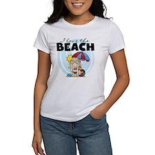 Blond Girl Love the Beach Tee