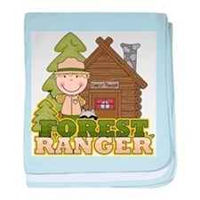 Male Forest Ranger baby blanket
