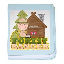 Male Forest Ranger baby blanket