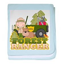 Female Forest Ranger baby blanket