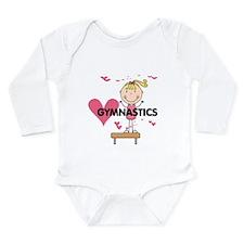 Blond Girl Gymnast Long Sleeve Infant Bodysuit