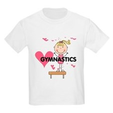 Blond Girl Gymnast T-Shirt