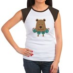 Cartoon Bear Women's Cap Sleeve T-Shirt