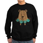 Cartoon Bear Sweatshirt (dark)