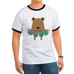 Cartoon Bear Ringer T