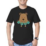 Cartoon Bear Men's Fitted T-Shirt (dark)