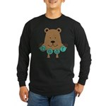 Cartoon Bear Long Sleeve Dark T-Shirt