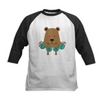 Cartoon Bear Kids Baseball Jersey