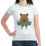 Cartoon Bear Jr. Ringer T-Shirt