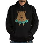 Cartoon Bear Hoodie (dark)