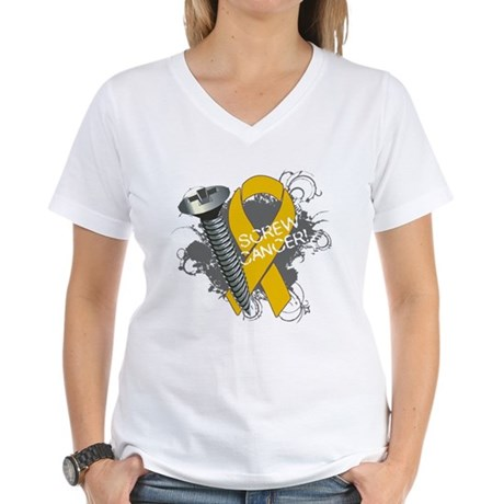Screw Appendix Cancer Women's V-Neck T-Shirt