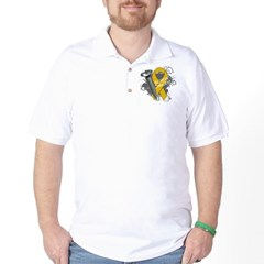Screw Appendix Cancer Golf Shirt