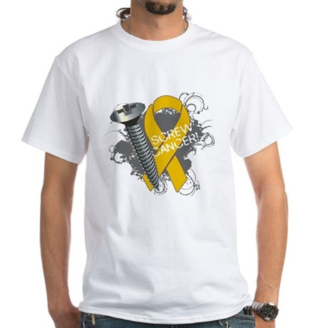 Screw Appendix Cancer White T-Shirt