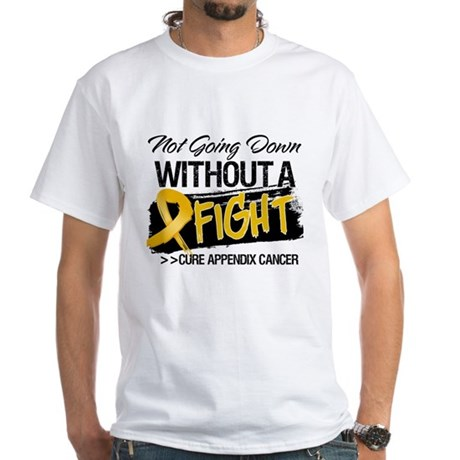 Appendix Cancer Fight White T-Shirt