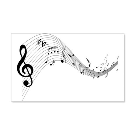 Mixed Musical Notes (black) 22x14 Wall Peel