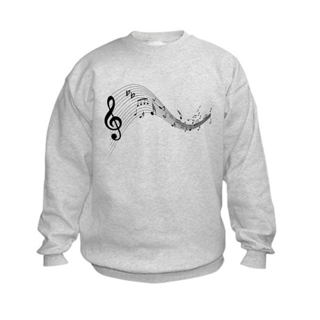 Mixed Musical Notes (black) Kids Sweatshirt