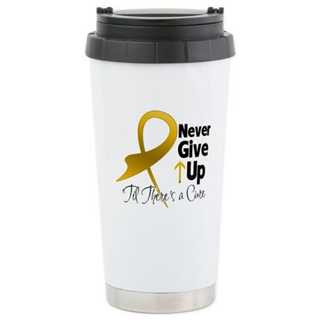 Never Give Up Appendix Cancer Ceramic Travel Mug