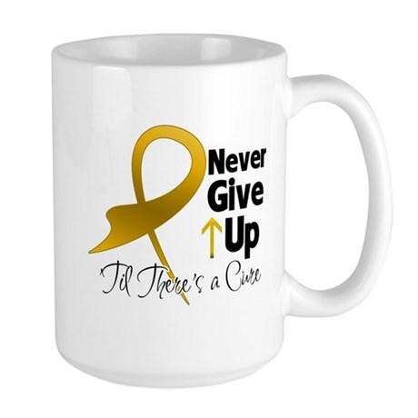 Never Give Up Appendix Cancer Large Mug