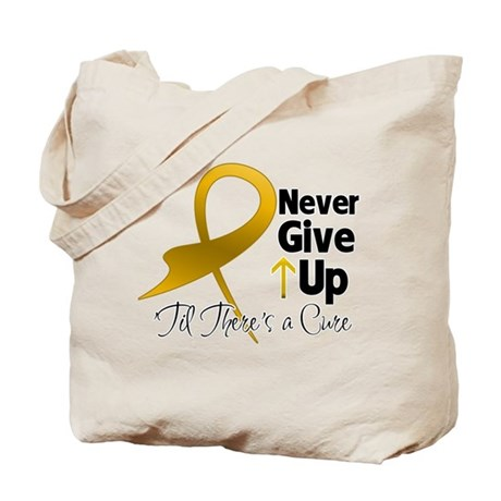 Never Give Up Appendix Cancer Tote Bag