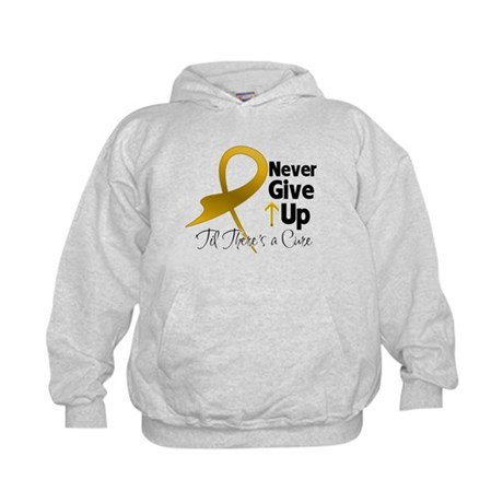 Never Give Up Appendix Cancer Kids Hoodie