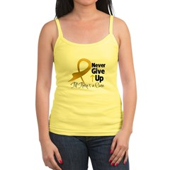 Never Give Up Appendix Cancer Jr. Spaghetti Tank