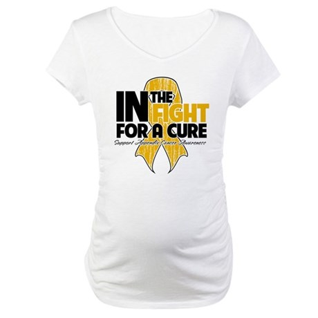 In The Fight Appendix Cancer Maternity T-Shirt