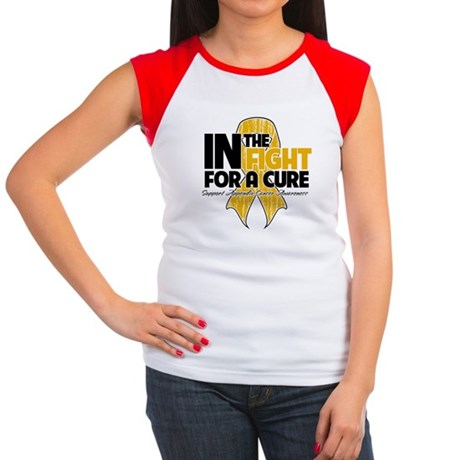 In The Fight Appendix Cancer Women's Cap Sleeve T-