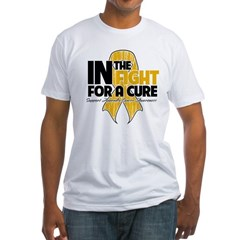 In The Fight Appendix Cancer Fitted T-Shirt
