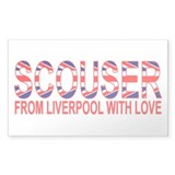 Scouser from Liverpool with Love Sticker (Rectangu