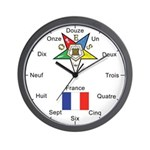 OES France Wall Clock