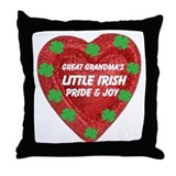 Irish Pride & Joy/Great Grandma Throw Pillow