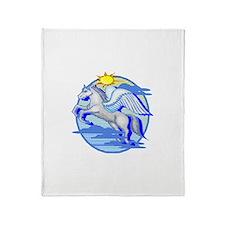 Pegasus Winged Horse Throw Blanket