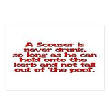 Red Scouser Never Drunk Postcards (Package of 8)