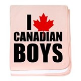 I Heart Canadian Boys baby blanket