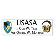 USASA Army Security Agency Bumper Bumper Sticker