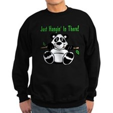 Hanging In There Panda Bear Sweatshirt